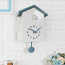 Hinxukp Nordic Style Wall Clock, Cuckoo Chimes Out