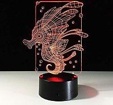 Hippocampi Bubble 3D Acrylic Cartoon Sea Horse