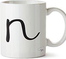 Hippowarehouse Alphabet Pocket N Printed Mug Cup