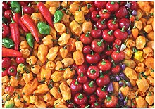 Hippowarehouse Assorted Peppers Chopping Board