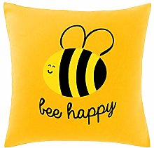 Hippowarehouse Bee Happy Printed bedroom accessory