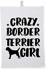 Hippowarehouse Crazy border terrier girl -
