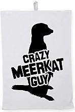 Hippowarehouse Crazy meerkat guy Printed Tea Towel