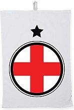 Hippowarehouse England emblem Printed Tea Towel
