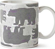 Hippowarehouse Grizzly Bear Pattern Printed Mug
