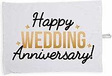 Hippowarehouse Happy wedding anniversary Printed