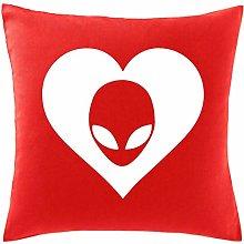 Hippowarehouse Heart Alien Printed bedroom