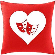 Hippowarehouse Heart Drama Printed bedroom