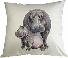 Hippowarehouse Hippo and baby Printed accessory