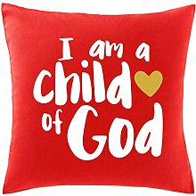 Hippowarehouse I am a child of God Printed bedroom accessory cushion cover case 41x41cm