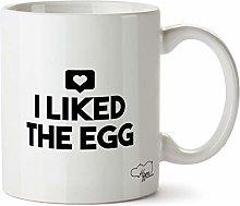 Hippowarehouse I Liked The Egg Printed Mug Cup