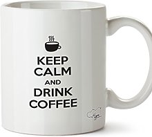 Hippowarehouse Keep Calm and Drink Coffee Printed