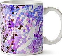 Hippowarehouse Magical Mosaic Printed Mug Cup