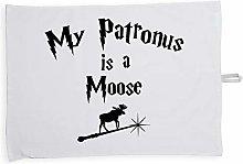 Hippowarehouse My Patronus Is A Moose Printed Tea