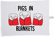 Hippowarehouse Pigs in blankets Printed Tea Towel