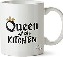 Hippowarehouse Queen of The Kitchen Printed Mug