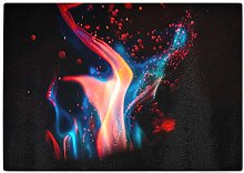 Hippowarehouse Red and Blue Flames Chopping Board