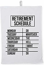 Hippowarehouse Retirement schedule Printed Tea