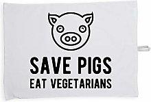 Hippowarehouse Save pigs eat vegetarians Printed