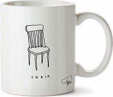 Hippowarehouse Simple Chair Drawing Printed Mug