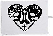 Hippowarehouse Skull heart Dark LovePrinted Tea