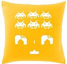 Hippowarehouse Space invaders Printed bedroom