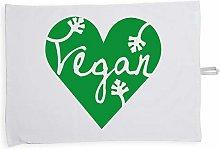 Hippowarehouse Vegan design Printed Tea Towel Dish