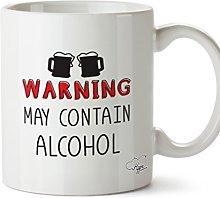 Hippowarehouse Warning May Contain Alcohol Printed