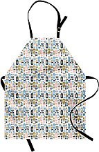Hipster Apron Cosmetics And Skin Care Items In