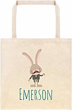 Hipster Easter Bunny with Mustache Personalized