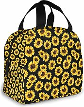 Hipster Golden Sunflowers Insulated Lunch Bag