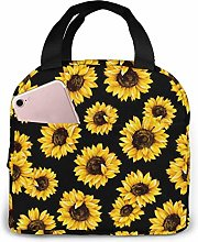 Hipster Golden Sunflowers Reusable Lunch Bags