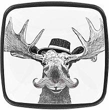 Hipster Moose [4 PCS]Decorative Cabinet Wardrobe