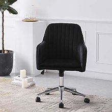Hironpal Black Crushed Velvet Fabric Home Office