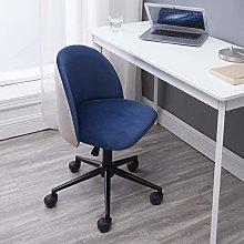 Hironpal Blue Velvet Office Chair Ergonomic Desk