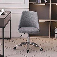 Hironpal Children Desk Chair Linen Fabric Grey
