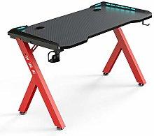 Hironpal Gaming Desk with Led Lights, Ergonomic