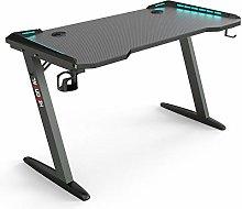 Hironpal Gaming Desk with Multiple Led Lights,
