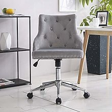 Hironpal Grey Crushed Velvet Fabric Home Office