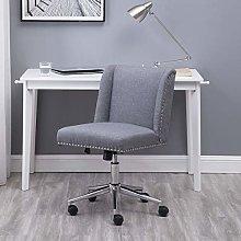 Hironpal Grey Fabric Office Desk Chair Thick