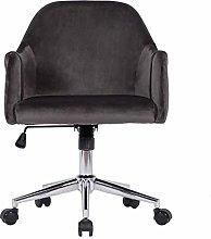 Hironpal Grey Velvet Home Office Chair Ergonomic