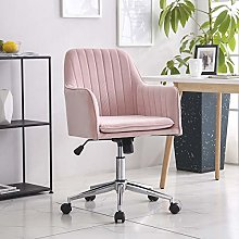 Hironpal Grey Velvet Office Chair Ergonomic Desk
