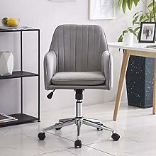 Hironpal Grey Velvet Office Chair Ergonomic Desk
