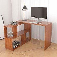 Hironpal L-shaped Corner Computer Desk Rotatable