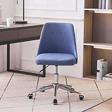 Hironpal Office Desk Chair Linen Fabric Blue