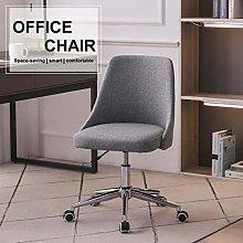 Hironpal Office Desk Chair Linen Fabric Pink