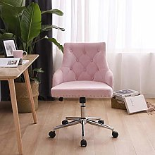 Hironpal PInk Crushed Velvet Fabric Home Office