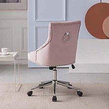 Hironpal Pink Velvet Office Chair Ergonomic Desk