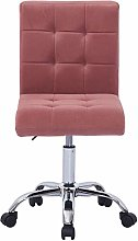 Hironpal Pink Velvet Office Desk Chair Thick