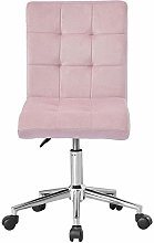 Hironpal Pink Velvet Office Desk Chair Thick